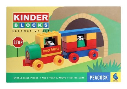 Peacock Kinder Blocks – Locomotive Set