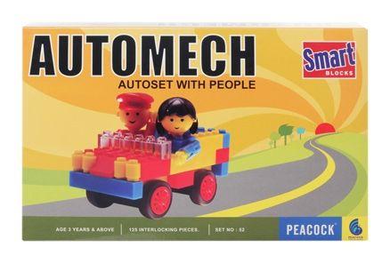Peacock Automech Smart Blocks - Multi Color