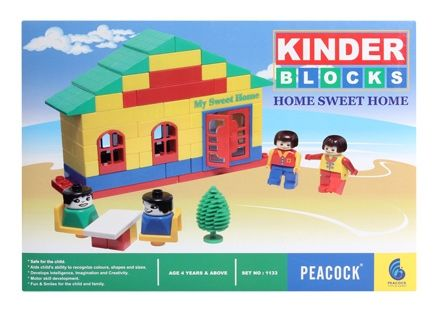 Peacock Kinder Blocks - Home Sweet Home