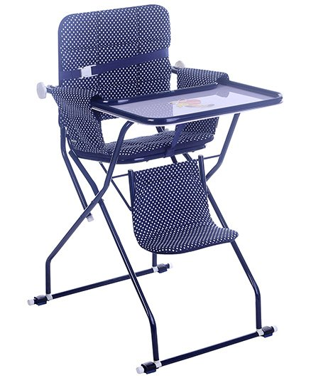 Mothertouch High Chair Polka Dot Blue