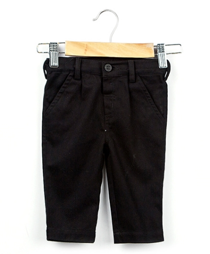 Beebay Pleated Twill Trouser - Black