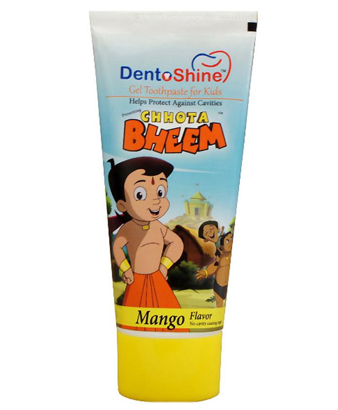 Dentoshine Chhota Bheem Gel Toothpaste For Kids - Mango Flavour