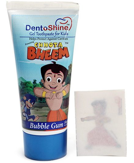 Chhota Bheem Gel Toothpaste For Kids - Bubble Gum Flavour