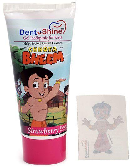 Chhota Bheem Gel Toothpaste For Kids - Strawberry Flavour