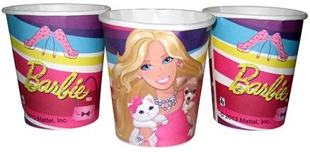 Barbie Paper Glass Set Of 16 Piece