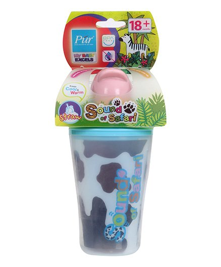 Pur Next insulated Cup 3D With Flip Top Lid - Cow