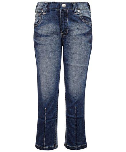 Gini & Jony Blue Fixed Waist Jeans