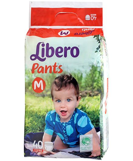 Libero Pant Style Diapers Medium - 40 Pieces
