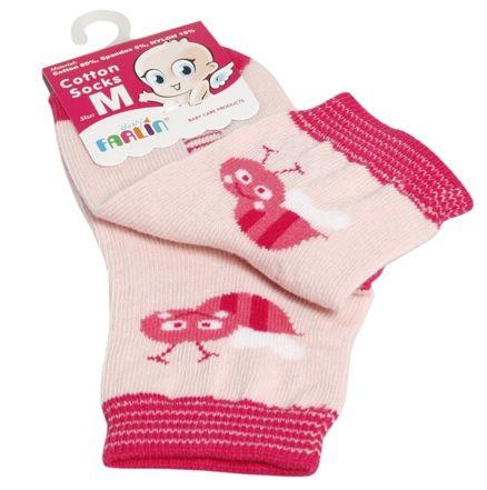 Farlin - Cotton Socks (Pink Color)