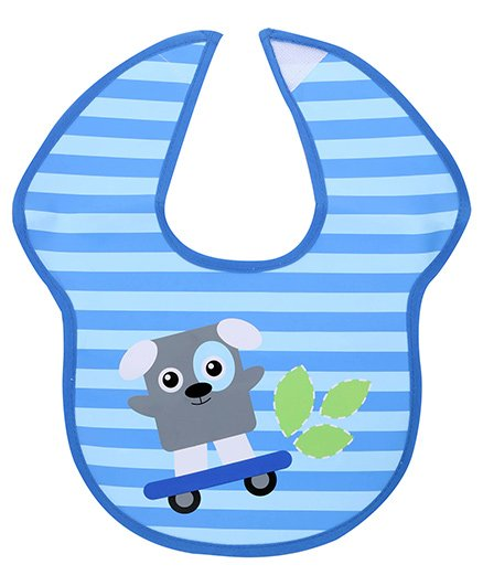 Honey Bunny Easy Clean Bib - Blue
