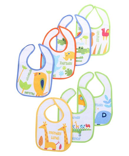 Honey Bunny Seven Day Bibs - Set Of Seven