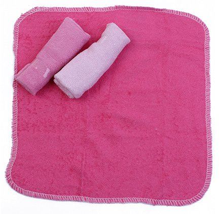 Honey Baby Washcloths Pack of 3 Pink