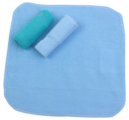 Honey Baby Washcloths Pack of 3 Blue