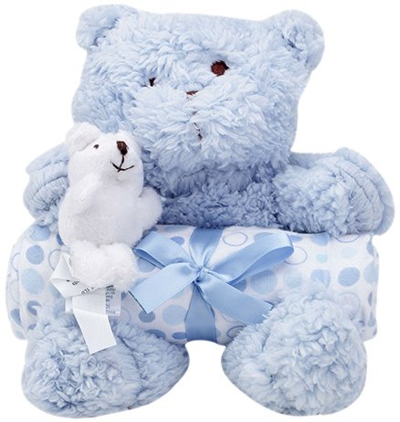 Piccolo Bambino Blanket with Soft Toy Blue