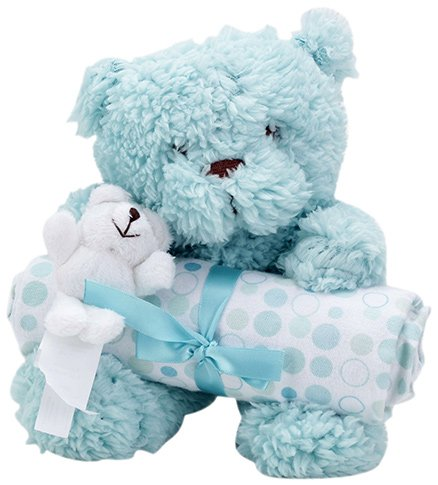 Piccolo Bambino Blanket with Soft Toy Aqua Blue