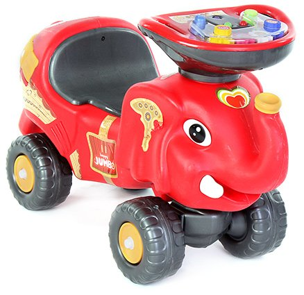 Toyzone Musical Manual Red RideOn Happy Jumbo - Upto 35 Kg