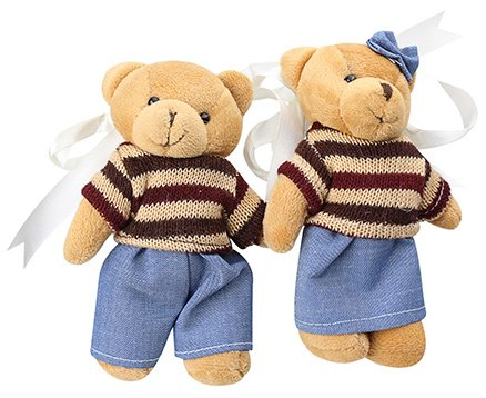 Fab N Funky Teddy Bear With Bow Pattern Curtain Tieback
