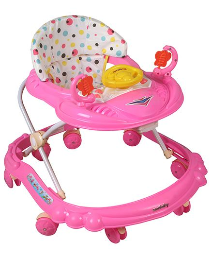 Sunbaby Ride-On Walker With Play Tray - Pink