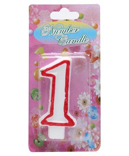 B Vishal BVC Number Candle - Number 1