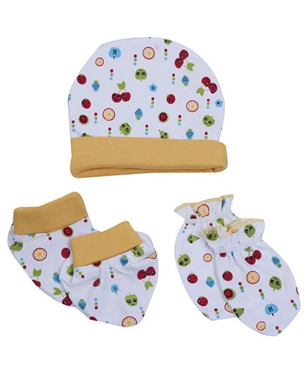 Morisons Baby Dreams Cap Mitten And Booties Set - Light Yellow