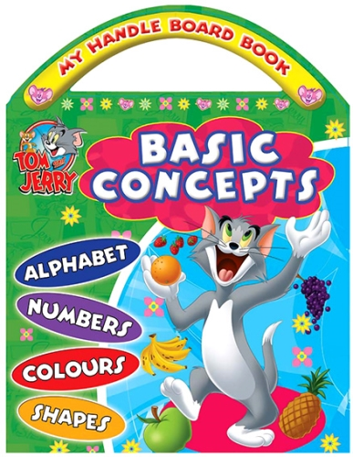 Sterling My Handle Board Books Basic Concepts - Tom And Jerry