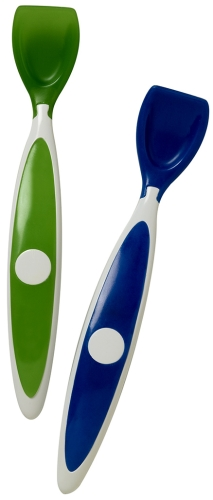 Dr Browns Soft Tip Spoon Blue And Green Set Of 2 - 14.5 Cm Each