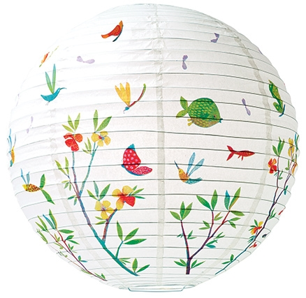 Djeco Chinese Globe Rice Paper Lampshade - Flowers Of Spring