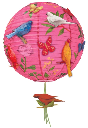Djeco Chinese Globe Rice Paper Lampshade - Poetic Birds