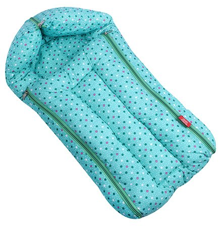 Sapphire Green Dotted Print Sleeping Bag - Large