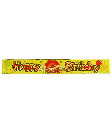 Party Anthem Happy Birthday Clown Foil Banner