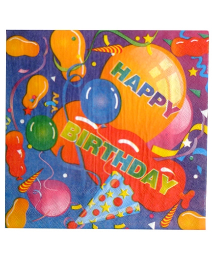Party Anthem Happy Birthday Confetti Paper Napkins - Pack Of 20