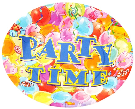 Party Anthem Multi Coloured Paper Plate - 23 cm