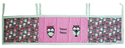 Kadam Baby Owl Appliqued Crib Bumper - 60 x 14 Cm