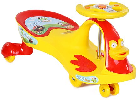 Toyzone Deluxe Magic Swing Car Rideon - Yellow and Red
