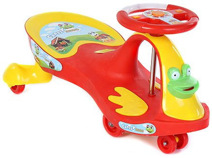 Toyzone Deluxe Magic Swing Car Red Rideon - Upto 35 Kg