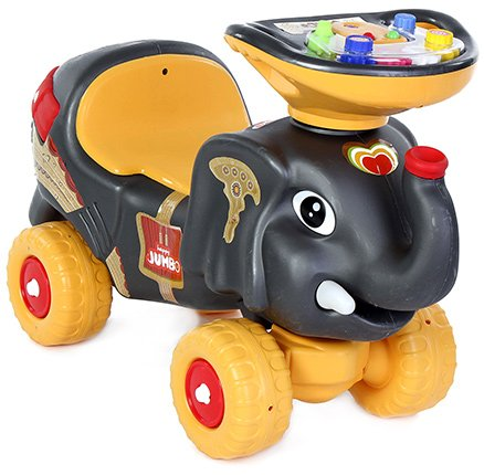 Toyzone Musical Manual Black RideOn Happy Jumbo - Upto 35 Kg