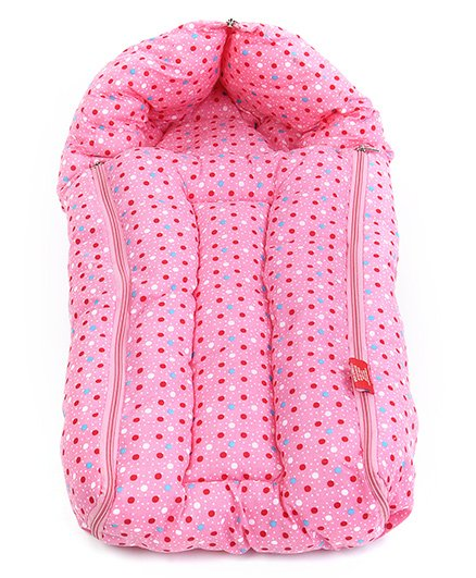 Sapphire Pink Dotted Print Sleeping Bag - Large
