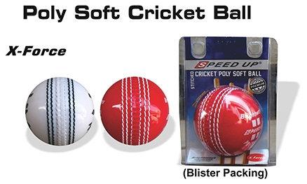 Speed Up Cricket Poly Soft Stitched Ball X-Force