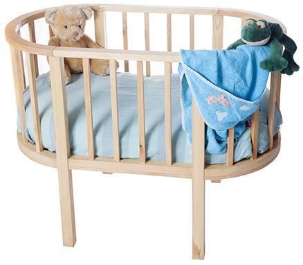 Lakdi Ki Kathi Wooden Oval Oasis Crib - 36 X 22 X 30 cm