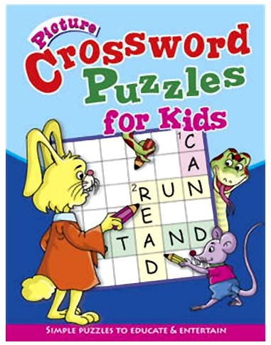 Shree Book Centre Picture Crossword Puzzles For Kids - Blue
