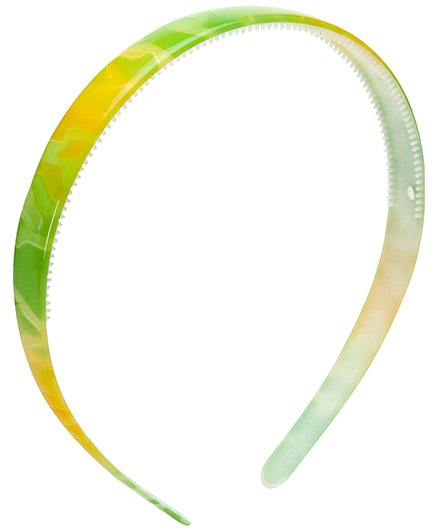 Stol'n Dual Colour Plain Hair Band - Green And Yellow