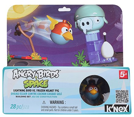Angry Birds Space Lightning Bird Vs Frozen Helmet Pig Building Set - 5 Years Plus