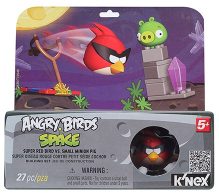 Angry Birds Space Super Red Bird Vs Small Minion Pig Building Set - 5 Years Plus