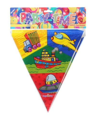 Archies Party Time Flag Banner - Plane & Ship