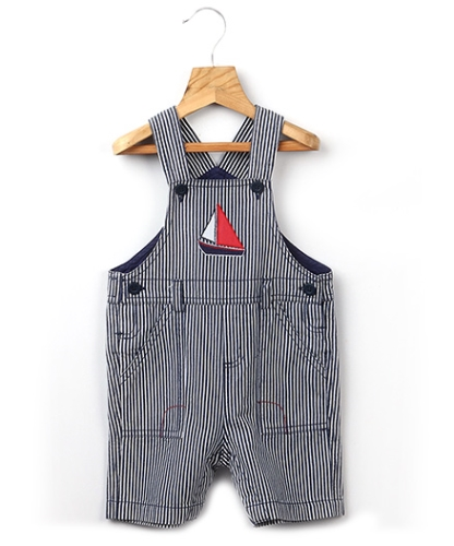 Beebay Stripes Print Boat Patch Dungaree