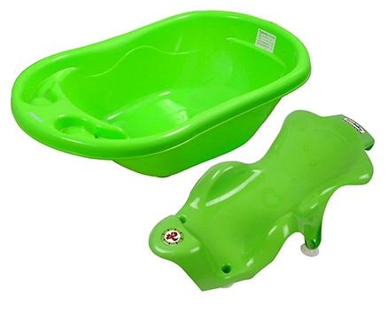 Sun Baby Bath Tub and Bath Sling - Green