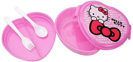 Hello Kitty Heart Shape Lunch Box - Pink