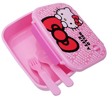 Hello Kitty  Lunch Box with Spoon - Pink