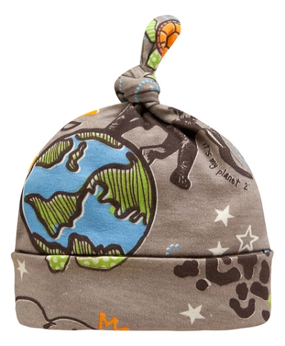 Kushies Baby Brown Graffiti Print Cap