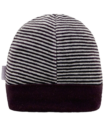 Kushies Baby Black Stripes Design Cap